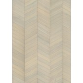 Chevron White - bordura / prírodný olej / 1-lamelový dizajn / mikro 4V drážka