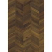 Chevron Dark brown - bordura / prírodný olej / 1-lamelový dizajn / mikro 4V drážka