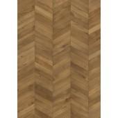 Chevron Light brown - bordura / prírodný olej / 1-lamelový dizajn / mikro 4V drážka