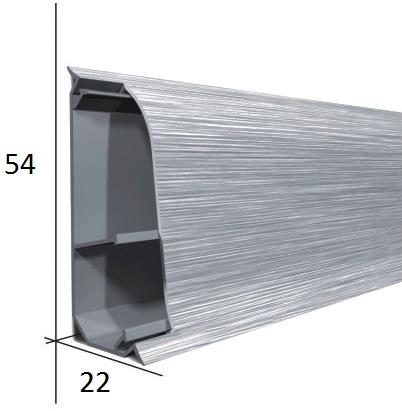 Soklová lišta plastová 54x22x2500