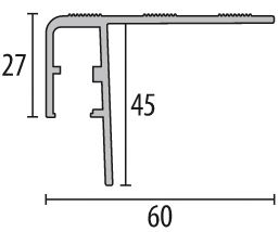 Schodový LED profil