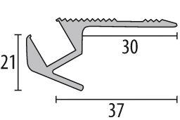 schodový profil s LED