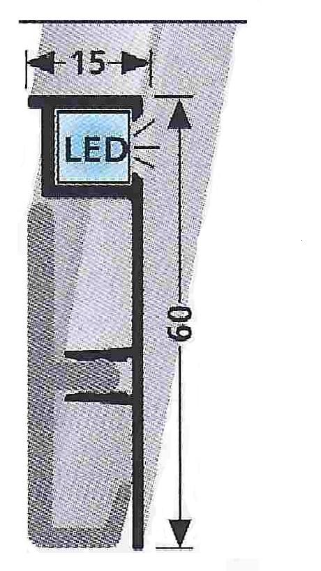 Soklová lišta s LED