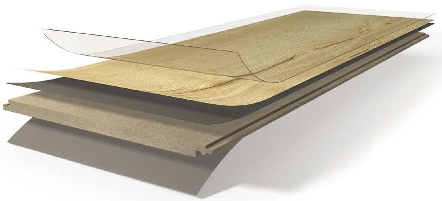 Zloženie laminátovej podlahy Parador